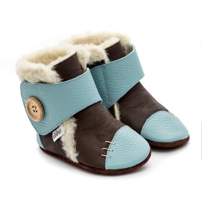 Zimní botičky Liliputi - Snowflake turquoise - Liliputi.cz 6e1d49c75c4