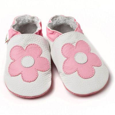 Boty Liliputi - bílé s květinkou
