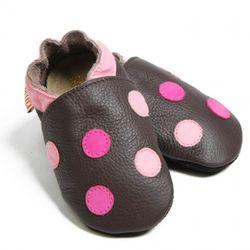 Boty Liliputi - puntíkované hnědé
