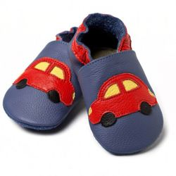 Boty Liliputi - modré s autem