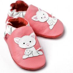 Boty Liliputi - růžové s kotětem