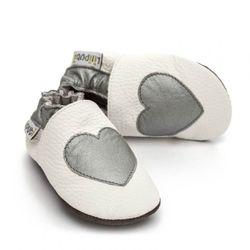 Boty Liliputi - stříbrné srdíčko